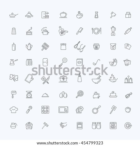 Kitchen Tools And Utensils icon collection kitchen tools utensils stock vector 454799323