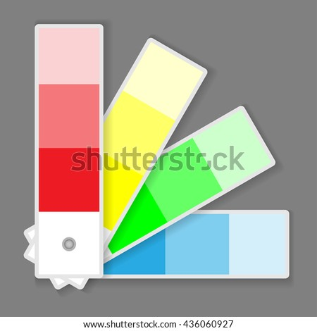 Icon Color Palette Isolated on grey background. Illustration Vector.