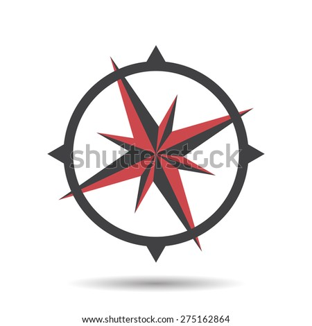 Icon compass vector illustration - stock vector