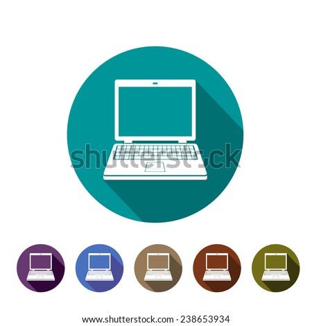 icon computer - stock vector