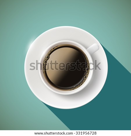 Icon cup of coffee. Stock vector illustration. - stock vector