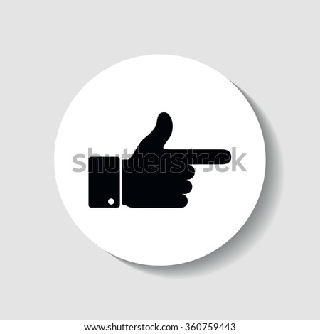Icon cursor pointing finger.