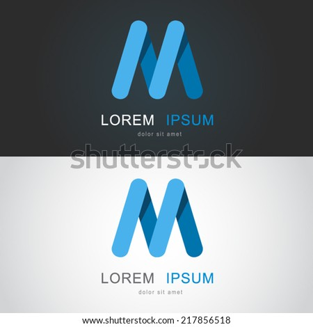 Icon design element based on letter M - stock vector