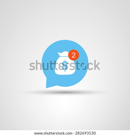Icon Design - Need More Money - stock vector