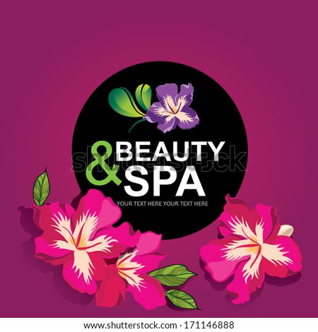 Icon design, spa and beauty.