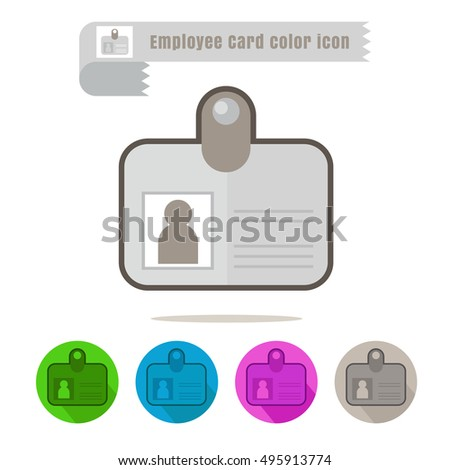 icon Employee Card colorful design vector on white background