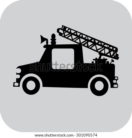 icon fire truck - stock vector