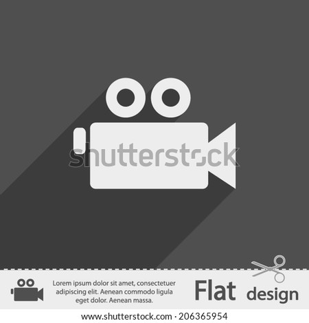 Icon. Flat design style - stock vector