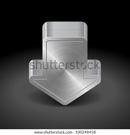 Icon for web download. Dark background. Vector saved as eps-10, file contains objects with transparency. - stock vector