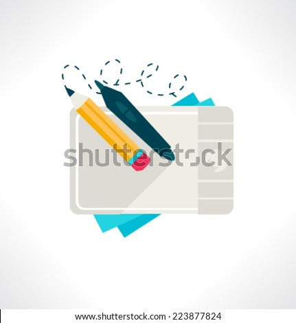 Icon for website and mobile application. Flat design. Vector. Editable. Graphic design. - stock vector