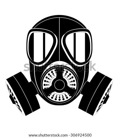 icon gas mask black white vector stock vector 306924500 - shutterstock