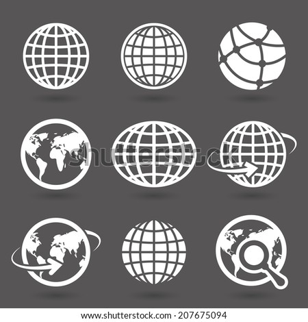 icon globes. vector. eps8 - stock vector