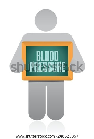 icon holding a blood pressure sign. illustration design over a white background