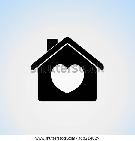Icon House Heart Symbol His Home Stock Vector Royalty Free