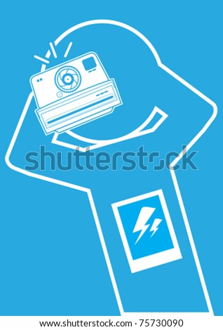 Icon Human Interaction Photography Concept Illustration in Vector - stock vector