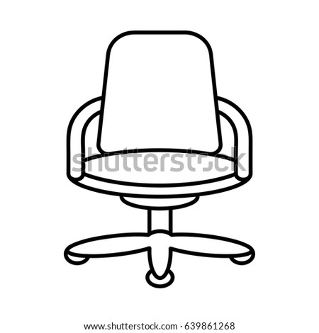 office chair clipart. icon illustration for business finance that illustrates the office chair in outline style design clipart