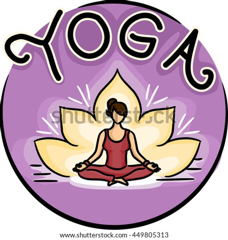 Icon Illustration of a Woman Doing Yoga