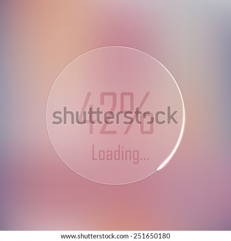 Icon loading process. Abstract soft blurred vector background. Minimalistic vector template. Clean design - stock vector