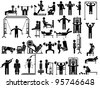 ICON MAN GYM - stock vector