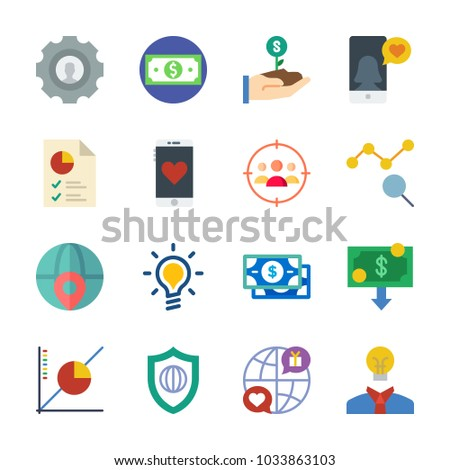 Icon Marketing Internet Pie Chart Shield Stock Vector 1033863103