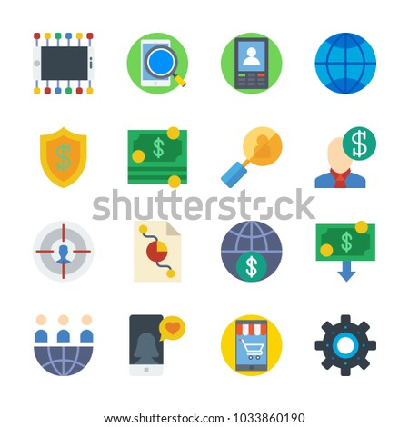 Icon Marketing Target Pie Chart Internet Stock Vector 1033860190