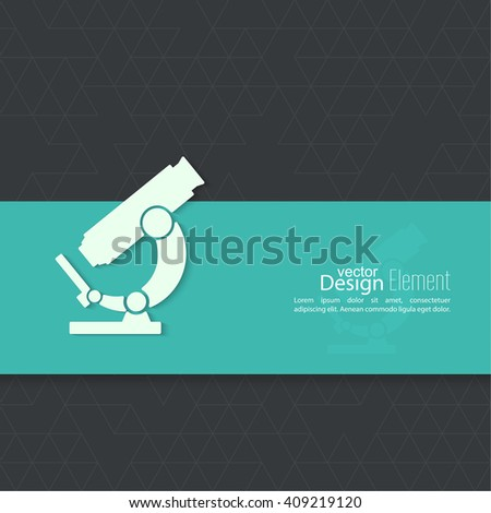 Icon microscope. Scientific research and lab bioprospecting microbes. minimal. - stock vector