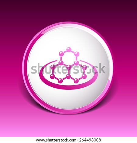 icon molecular research chemistry medicine molecule atom vector. - stock vector