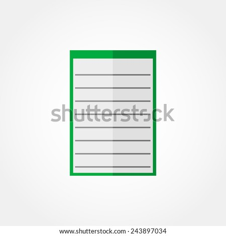 Icon notebook  - stock vector