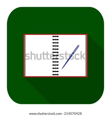 Icon notebook and pen - stock vector