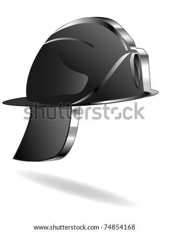 Icon of a fire helmet - stock vector
