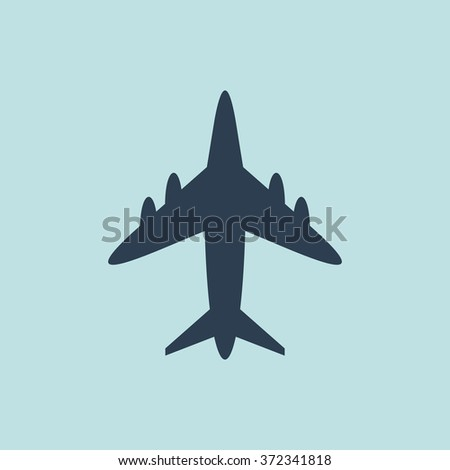 Icon of Airplane. EPS-10. - stock vector