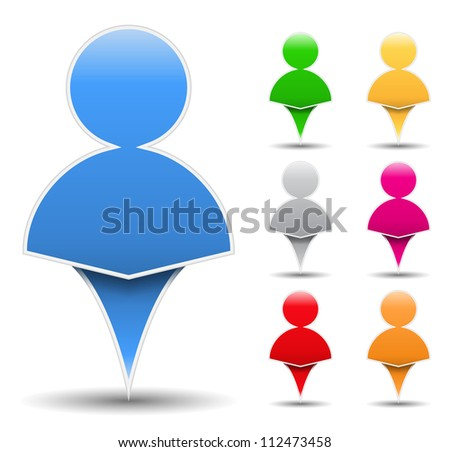 Icon of an abstract human, vector eps10 illustration - stock vector