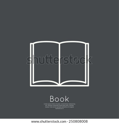 Icon of an open book. minimal. Outline. for web and mobile applications - stock vector