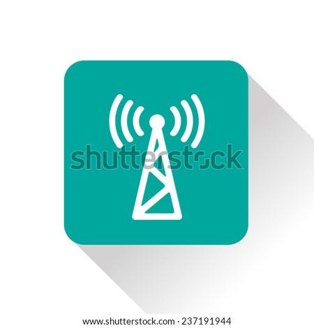 icon of antenna - stock vector
