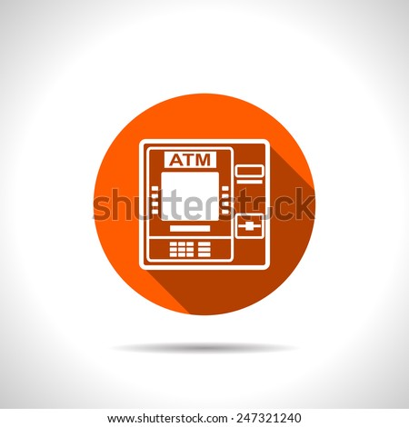 icon of atm - stock vector