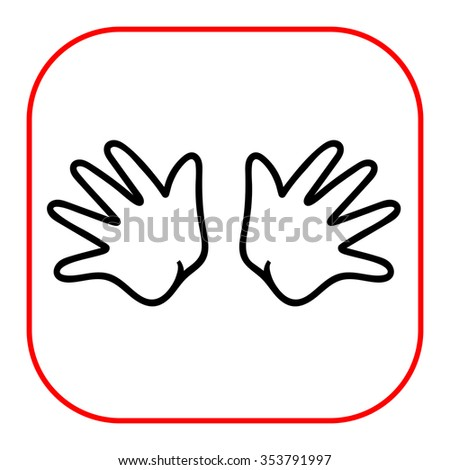 Icon of baby hands