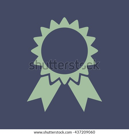 Icon of Badge. Eps-10. - stock vector