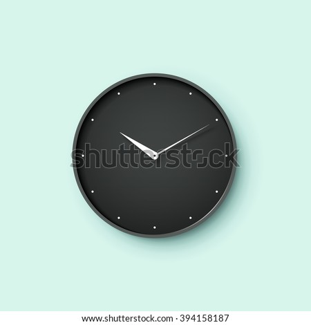 Wall clock stock images royalty free images vectors shutterstock icon of black clock face with shadow on menthol wall background vector illustration ccuart Choice Image