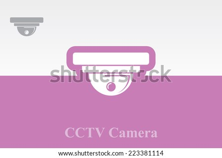 Icon of CCTV Camera. Eps-10 - stock vector