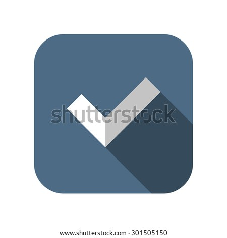icon of check - stock vector