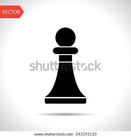 icon of chess pawn - stock vector