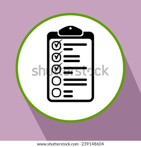 icon of clipboard - stock vector