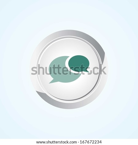 Icon of Comments on Button. Eps-10. - stock vector