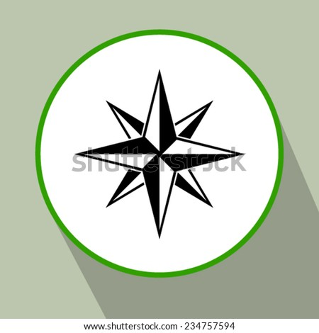 icon of compass - stock vector