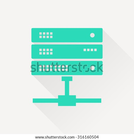 icon of computer server - stock vector
