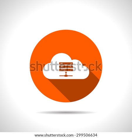 Icon of computer server, vector illustration - stock vector