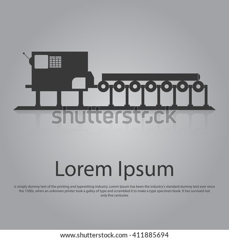 Icon of conveyor belt. Flat design.
