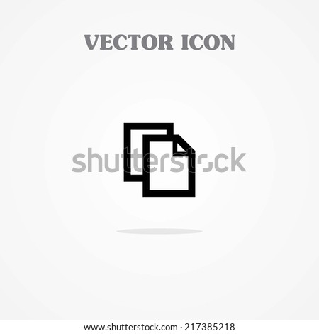 Icon of Copy on  - stock vector