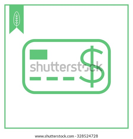 Icon of credit card with dollar sign - stock vector