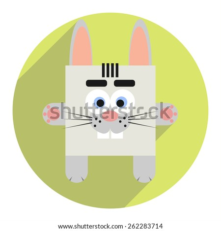 Icon of cute rabbit. - stock vector